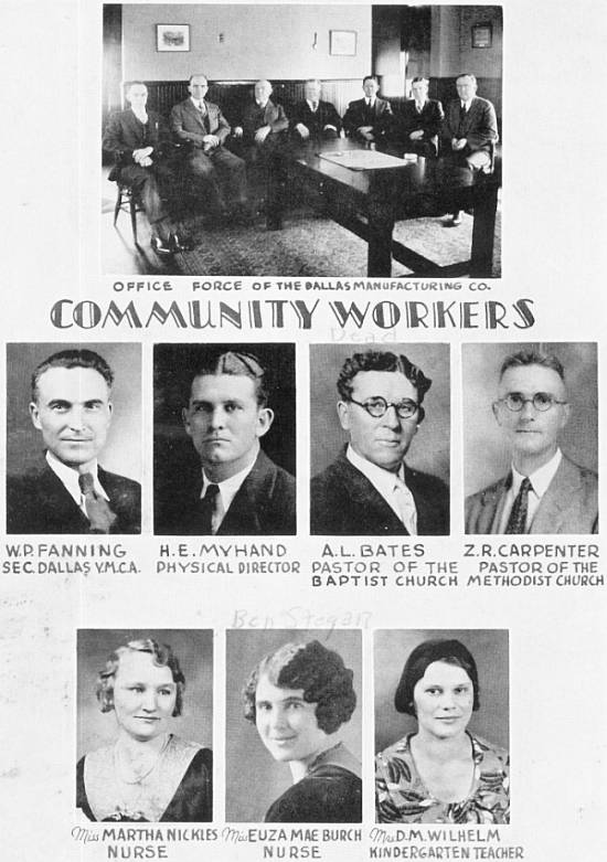 Community Workers of Dallas Village, 1932