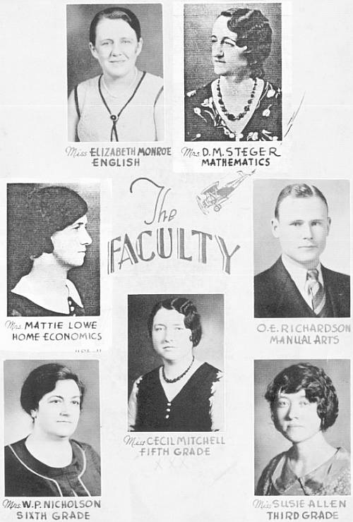 Rison Faculty 1932, Page 1