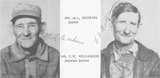 1953 Custodians M. L. Beshears and F. W. Williamson