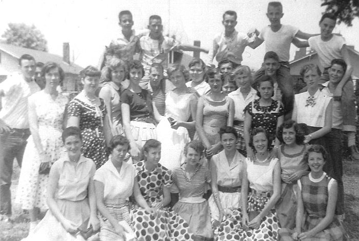 1956 Rison Jr High Class at Play