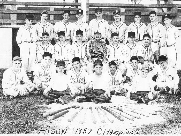 Rison School Junior (?) Baseball Champs 1957