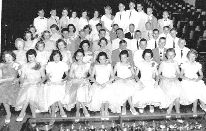 The 9th Grade Graduating Class of 1957