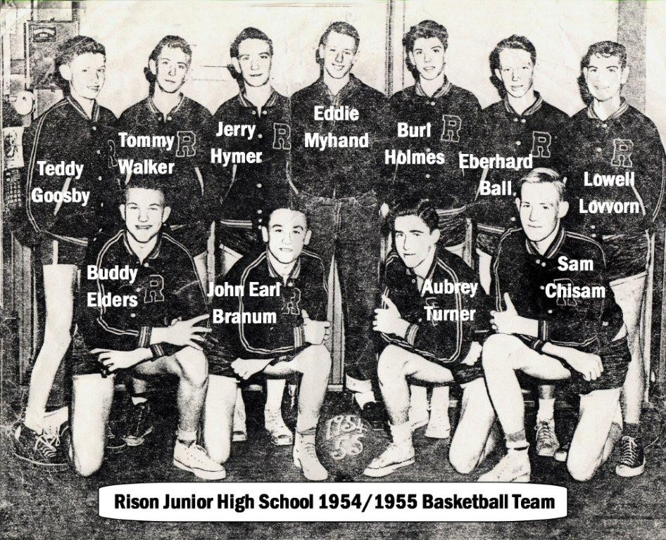 Rison Jr. High School 1954/1955 Basketball