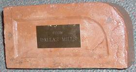 A brick from the Dallas Mill