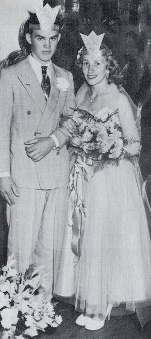1953 Junior King and Queen - Donald Mitchell and Wanda Renegar