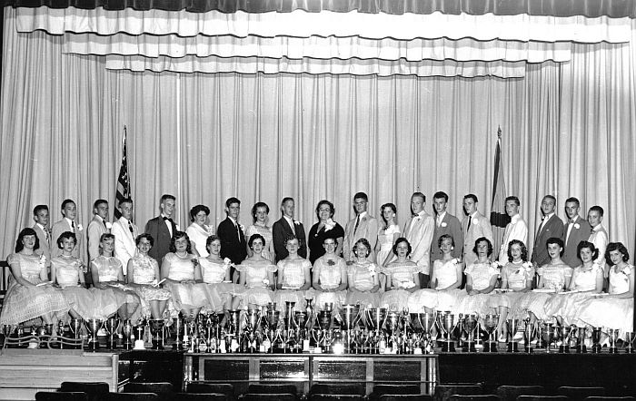 The 9th Grade graduating class of 1956