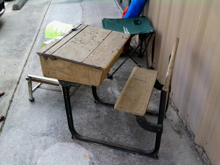 An old school desk