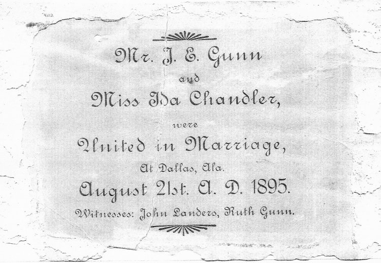 Gunn Marriage License