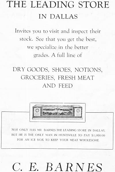 Advertisement for the Dallas Leading Store, 1922