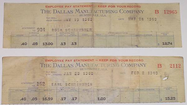 Dallas Mills Pay Stubs