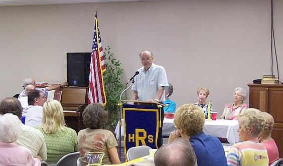 John Pruett speaking at the Rison-Dallas Reunion, August 4, 2007