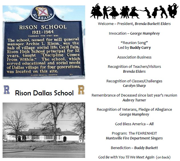 rison-dallas 2011 reunion program