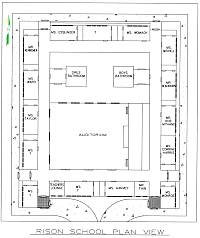 Rison School Floor Plan 1957 - 1958 (Click for Full-size Image)