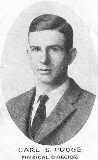 Carl S. Fudge, Physical Director, 1922 YMCA
