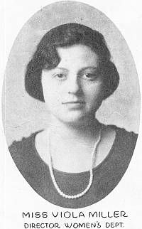 Viola Miller, Music and Art Instructor, 1922 YMCA